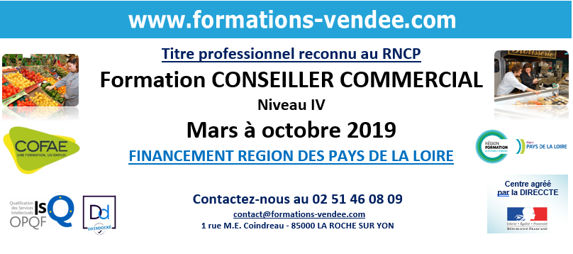 Formation conseiller commercial