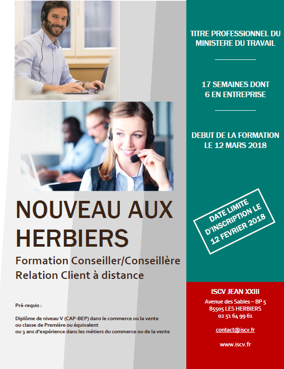 Formation CRCD à l'ISCV